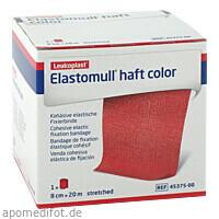 ELASTOMULL HAFT 20MX8cm color rot, 1 ST, Bsn Medical GmbH