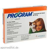PROGRAM Suspens.f.Katzen b.4,5 kg/133 mg Ampullen, 6 ST, Elanco Deutschland GmbH