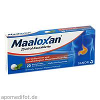 Maaloxan 25mVal, 20 ST, Sanofi-Aventis Deutschland GmbH GB Selbstmedikation /Consumer-Care