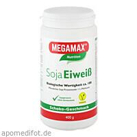Soja Eiweiss 80+Methionin Schoko, 400 G, Megamax B.V.
