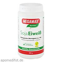Soja Eiweiss 80+Methionin Vanille, 400 G, Megamax B.V.