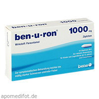 ben-u-ron 1000mg Zäpfchen, 10 ST, Bene Arzneimittel GmbH