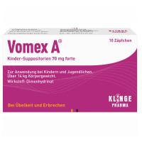 VOMEX A Kinder-Suppositorien 70 mg forte, 10 ST, Klinge Pharma GmbH