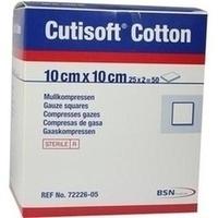 Cutisoft Cotton Kompressen 10x10cm steril, 25X2 ST, Bsn Medical GmbH