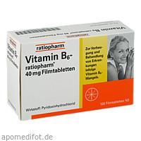 Vitamin-B6-ratiopharm 40mg Filmtabletten, 100 ST, ratiopharm GmbH