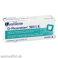 D FLUORETTEN 500, 90 ST, Zentiva Pharma GmbH