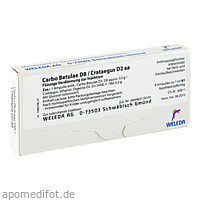 CARBO BETULAE D 8 CRAT D 2, 8X1 ML, Weleda AG