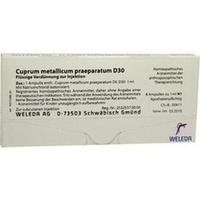 CUPRUM MET PRAEP D30, 8X1 ML, Weleda AG
