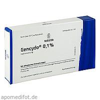 GENCYDO 0.1%, 8 ST, Weleda AG