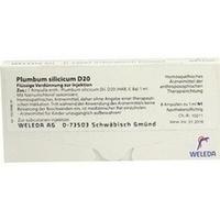 PLUMBUM SILICICUM D20, 8X1 ML, Weleda AG