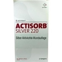 ACTISORB 220 Silver 19.0x10.5cm steril, 10 ST, Eurimpharm Arzneimittel GmbH