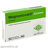 Magnesiocard 2.5mmol, 50 ST, Verla-Pharm Arzneimittel GmbH & Co. KG
