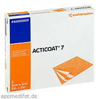 Acticoat 7 Antimikrobieller 7Tage Verb 5x5cm, 5 ST, Smith & Nephew GmbH