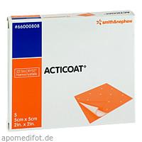 Acticoat Antimikrobieller Verband 5x5cm, 5 ST, Smith & Nephew GmbH