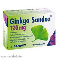 Ginkgo Sandoz 120mg Filmtabletten, 120 ST, HEXAL AG