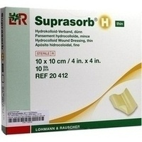 Suprasorb H Hydrokoll.Verb. 10x10cm dünn, 10 ST, Bios Medical Services GmbH