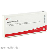 EQUISETUM/FORMICA, 10X1 ML, Wala Heilmittel GmbH