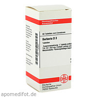BERBERIS D 3, 80 ST, Dhu-Arzneimittel GmbH & Co. KG