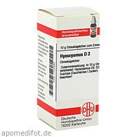 HYOSCYAMUS D 3, 10 G, Dhu-Arzneimittel GmbH & Co. KG