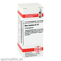 NUX VOMICA D12, 10 G, Dhu-Arzneimittel GmbH & Co. KG