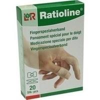 Ratioline elastic Fingerspezialverband in 2 Größen, 20 ST, Lohmann & Rauscher GmbH & Co. KG