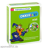 Okklueasy midi Augenokklusionsklappe SoftFleece, 1 ST, Berenbrinker Service GmbH