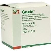 GAZIN Verbandmull gerollt im Spender 6cmx5m, 1 ST, Lohmann & Rauscher GmbH & Co. KG