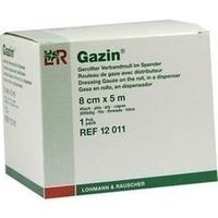 GAZIN Verbandmull gerollt im Spender 8cmx5m, 1 ST, Lohmann & Rauscher GmbH & Co. KG