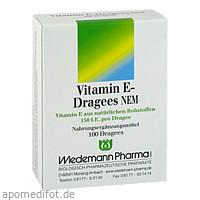 Vitamin E-Dragees NEM, 100 ST, Wiedemann Pharma GmbH