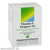 Vitamin E-Dragees NEM, 200 ST, Wiedemann Pharma GmbH