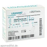 LIGASANO Sticks steril 6x2.5x0.4cm, 10 ST, Ligamed Medical Produkte GmbH