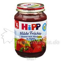 Hipp 4410 Himbeere mit Erdbeere in Apfel, 190 G, Hipp GmbH & Co.Vertrieb KG