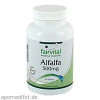 Alfalfa 500mg, 250 ST, Fairvital B. V.