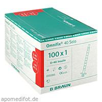 OMNIFIX INSULIN SOLO 40, 100X1 ML, B. Braun Melsungen AG