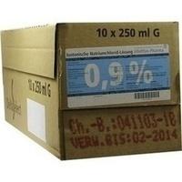 Isotonische NaCl 0.9% DELTAMEDICA Glasinf., 10X250 ML, DELTAMEDICA GmbH