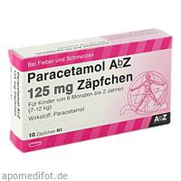 Paracetamol AbZ 125mg Zäpfchen, 10 ST, Abz Pharma GmbH