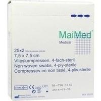 Vlieskompressen 7.5x7.5 4-fach steril, 25X2 ST, Maimed GmbH -Bereich Vertrieb-