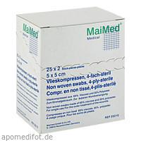 Vlieskompressen 5x5 4-fach steril, 25X2 ST, Maimed GmbH -Bereich Vertrieb-