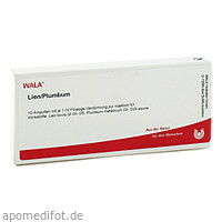 LIEN/PLUMBUM, 10X1 ML, Wala Heilmittel GmbH
