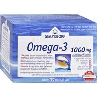 GESUNDFORM Omega-3 Kapseln 1000mg, 180 ST, Provita Apoth.Market.U.Handels GmbH