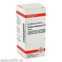 THALLIUM SULF D12, 80 ST, Dhu-Arzneimittel GmbH & Co. KG