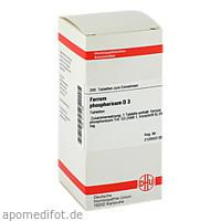 FERRUM PHOSPHORICUM D 3 Tabletten, 200 ST, DHU-Arzneimittel GmbH & Co. KG