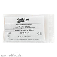 Optiplast WSV elastisch 10x6cm, 8 ST, Wvp Pharma und Cosmetic Vertriebs GmbH
