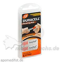 DURACELL 13 Easy TAB Hörgerätebatterie, 6 ST, Wick Pharma / Procter & Gamble GmbH