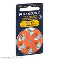 Batterie für Hörgeräte MAXSONIC PR 13, 6 ST, Vielstedter Elektronik