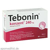 Tebonin Konzent 240mg, 80 ST, Dr.Willmar Schwabe GmbH & Co. KG