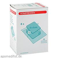 Mullkompresse 5x5cm 12fach Steril-Set, 8X10 ST, Nobamed Paul Danz AG