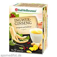 BAD HEILBRUNNER Tee Ingwer Ginseng Filterbeutel, 15X2.0 G, Bad Heilbrunner Naturheilm.GmbH&Co.KG