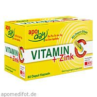 Vitamin C + Zink Depot Kapseln, 60 ST, WEPA Apothekenbedarf GmbH & Co KG
