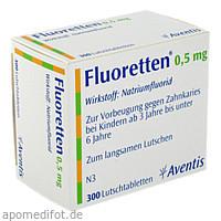 FLUORETTEN 0.5MG, 300 ST, Zentiva Pharma GmbH